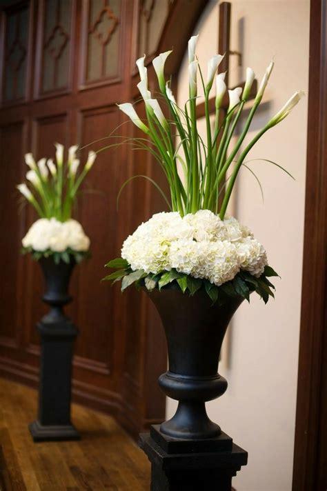 calla lilies altar decoration  church church wedding