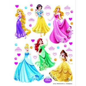Disney princess giant stickers great kidsbedrooms the