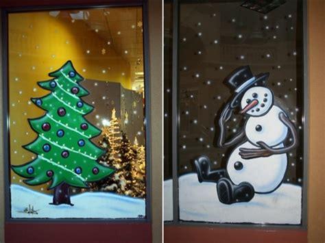 schöne fensterdeko weihnachten feine fensterbilder zu weihnachten und winterzeit