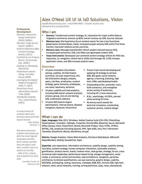 ux designer resume pdf 8 best ux designer resume images on resume ux designer and design resume