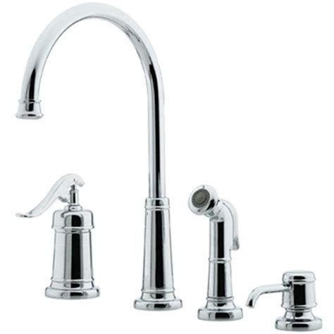 4 hole kitchen faucet price pfister t26 4ypc ashfield 4 hole kitchen faucet with