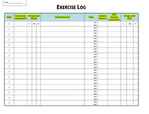 exercise log template 8 plus training sheets