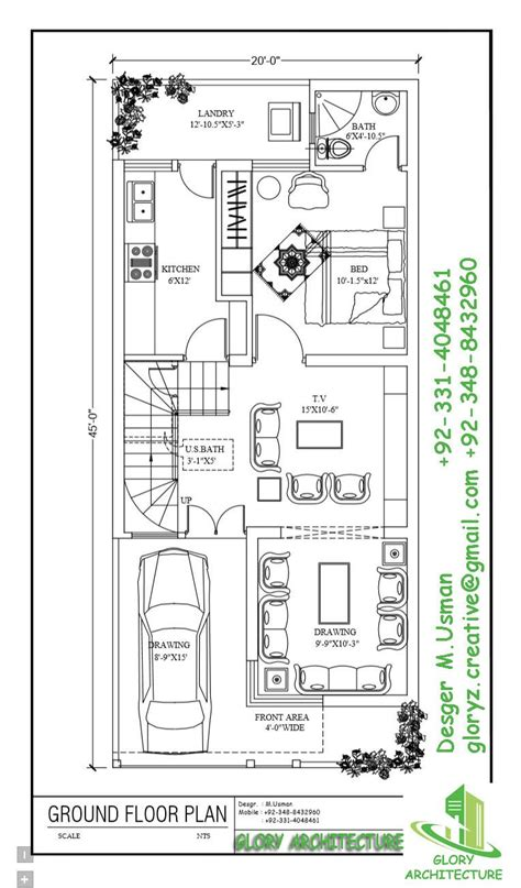 home design 15 x 45 20 x 45 working plans pinterest house indian house