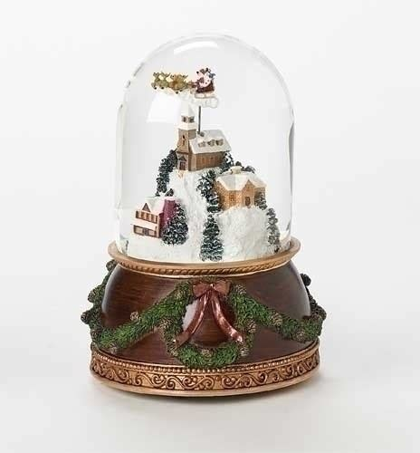 rotating train snow globe musical rotating snow globe