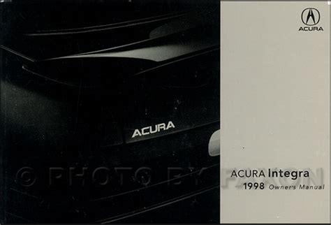 auto repair manual online 1998 acura integra seat position control 1998 acura integra owners manual original
