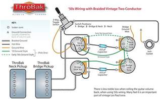 les paul wiring harness throbak 50 s style wiring kit for les paul electric guitars