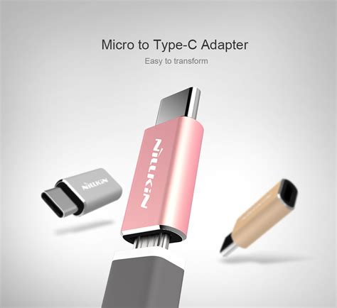 Conector Charger Usb Type C Ke Usb Micro nillkin micro usb to usb type c adapter converter silver jakartanotebook