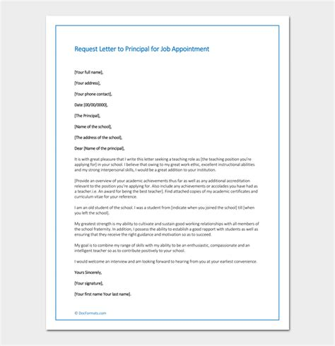 Appointment Letter To School Principal appointment request letter 14 letter sles formats