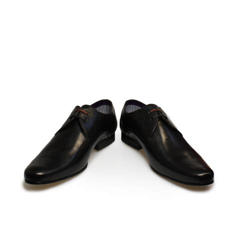 black leather shoes ted baker patrii derby black leather mens shoes 7 11 ebay