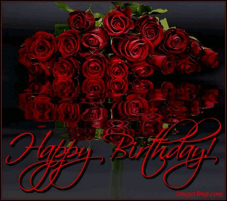 Happy Birthday Wishes With Roses Birthday Flowers Glitter Graphics Comments Gifs Memes