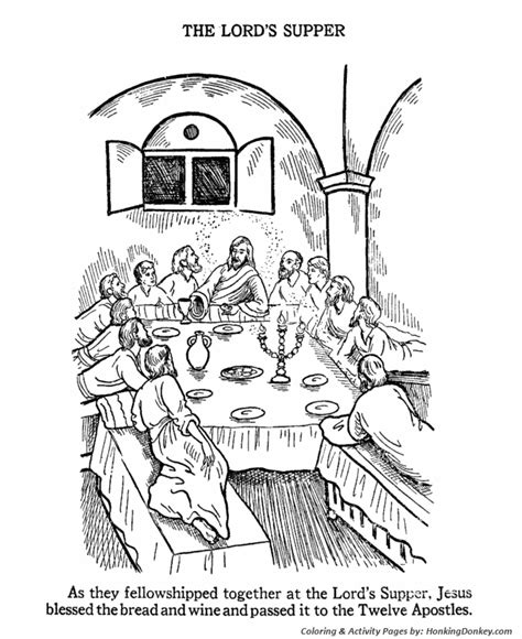 easter bible coloring pages the last supper coloring