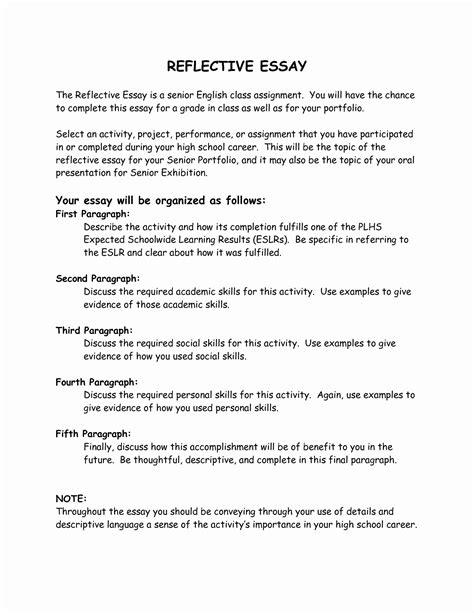 Apa Reflective Essay by Reflective Essay Apa Format Exle Docoments Ojazlink