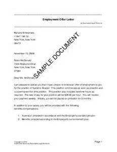 employment offer letter usa templates