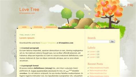 love templates for blogger love tree blogger template btemplates
