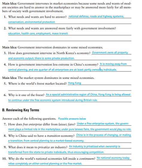 section 2 guided reading and review the free market answers homework helper 12thhw twitter