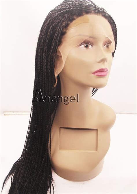 wigs made for black people that are braided long braided lace front wig for african american black