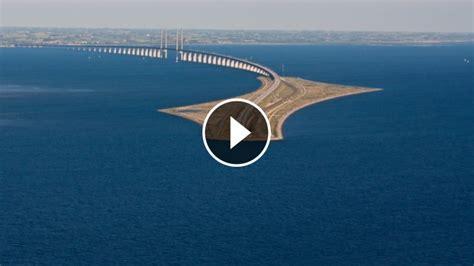 insane  bridge turns   tunnel  connects denmark  sweden
