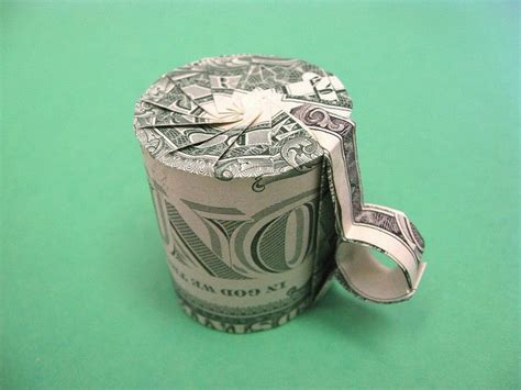 coffee cup money origami money dollar origami