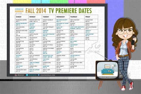 new fall tv shows the complete lineup with previews the new fall 2014 tv show premiere dates list jacqui