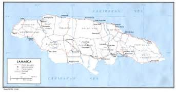 Jamaica Map World by Information For Jamaica Chinese Translation English