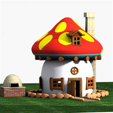Smurf House by 3d Model House Smurf