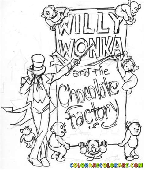 free coloring pages of willy wonka