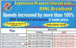 bsnl revised broadband plans hyderabad