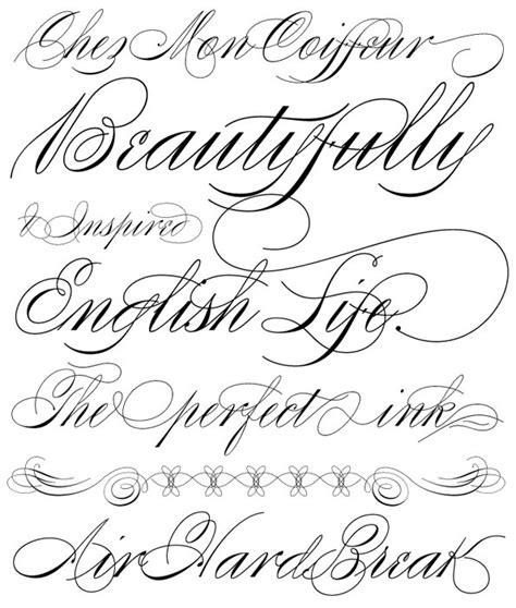 tattoo lettering cursive fonts tattoo fonts in cursive