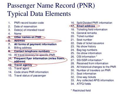 find passengers name of a ticket from pnr number data retention la corte ue blocca l accordo col canada su