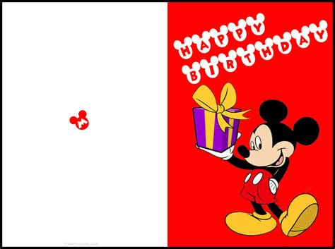 printable birthday cards free printable mickey mouse birthday cards luxury