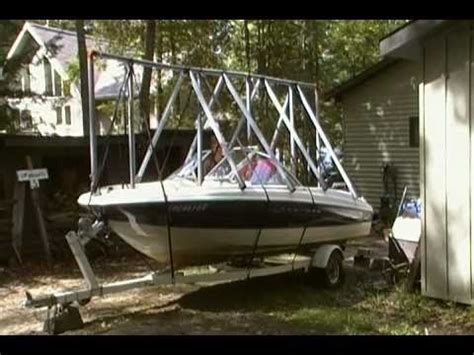 boat storage for winter navigloo boat storage in muskoka youtube