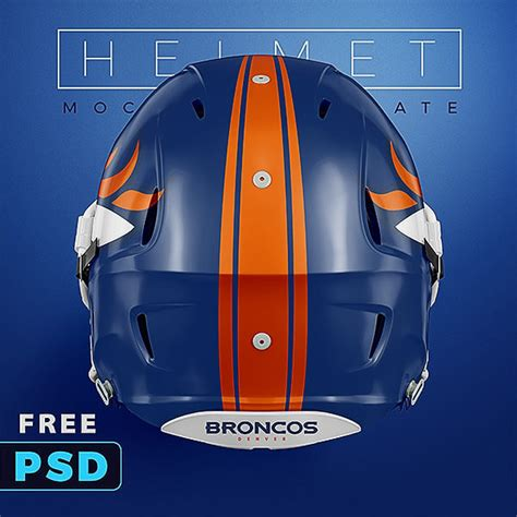 Football Psd Template football helmet free psd mockup sports templates