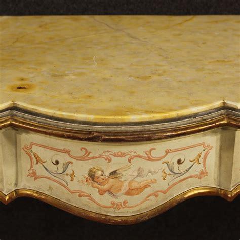 Marmor Lackieren by Konsole Lackiert M 246 Bel Tisch Bemalt Holz Marmorboden Antik