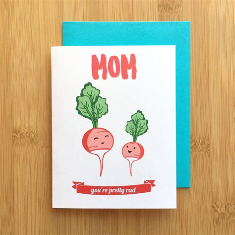mom cards radish mom card mothers day card mom birthday card