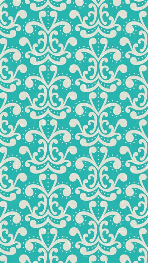 cute pattern lock iphone 5 wallpaper aqua damask pattern wallpapers