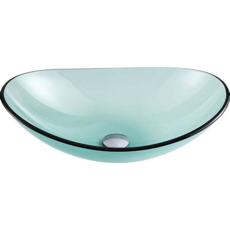 bathroom ls home depot anzzi major series deco glass vessel sink in lustrous