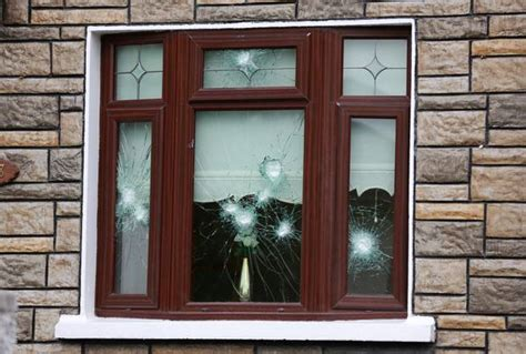 bullet proof house windows nine shots put into bullet proof windows of gang target s home herald ie