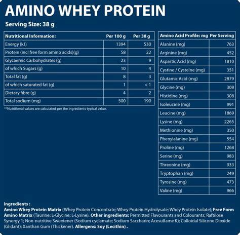Amino Whey Protein Evox Amino Whey Protein 1 7kg