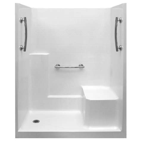 One Fiberglass Shower Stall With Seat by Ultimate 60x36 One Low Threshold Shower Stall Kit