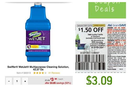 coupons for swiffer wetjet solution