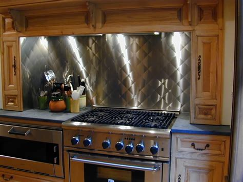 kitchen with stainless steel backsplash stainless steel backsplashes custom