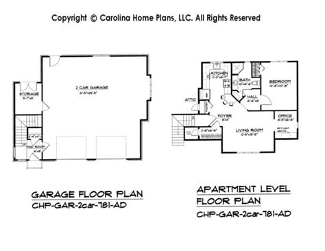 one story garage apartment floor plans valine