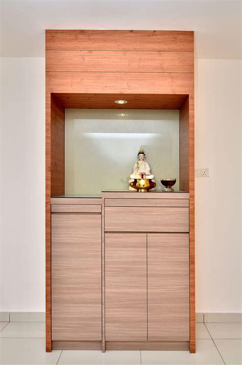 modern buddhist altar design customized altar wood brown buddha guanyin simple