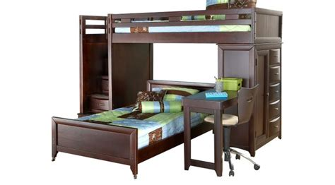 Bunk Beds With Desks Them by League Cherry Step Loft Bunk With Chest And