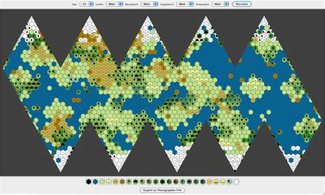world map generator icosahedral world map generator