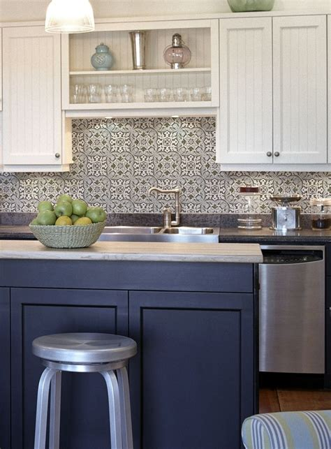blue tile backsplash kitchen blue and white kitchen backsplash tiles fanabis