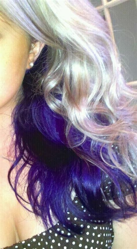 purple and blonde hairstyles my hair the purple and platinum blonde on pinterest