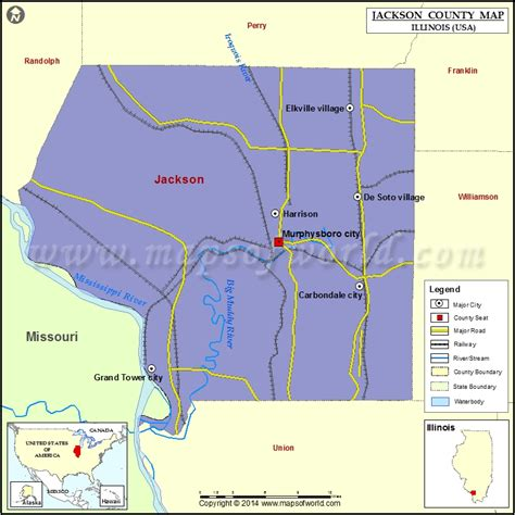 jackson usa maps jackson county map illinois