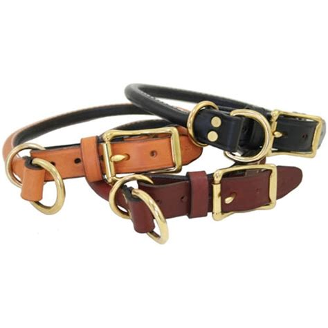 Handcrafted Leather Collars - handcrafted rolled leather combo collars classic colors