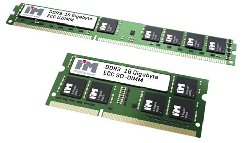 16gb ram cards i m intelligent memory to release 16gb unregistered ddr3